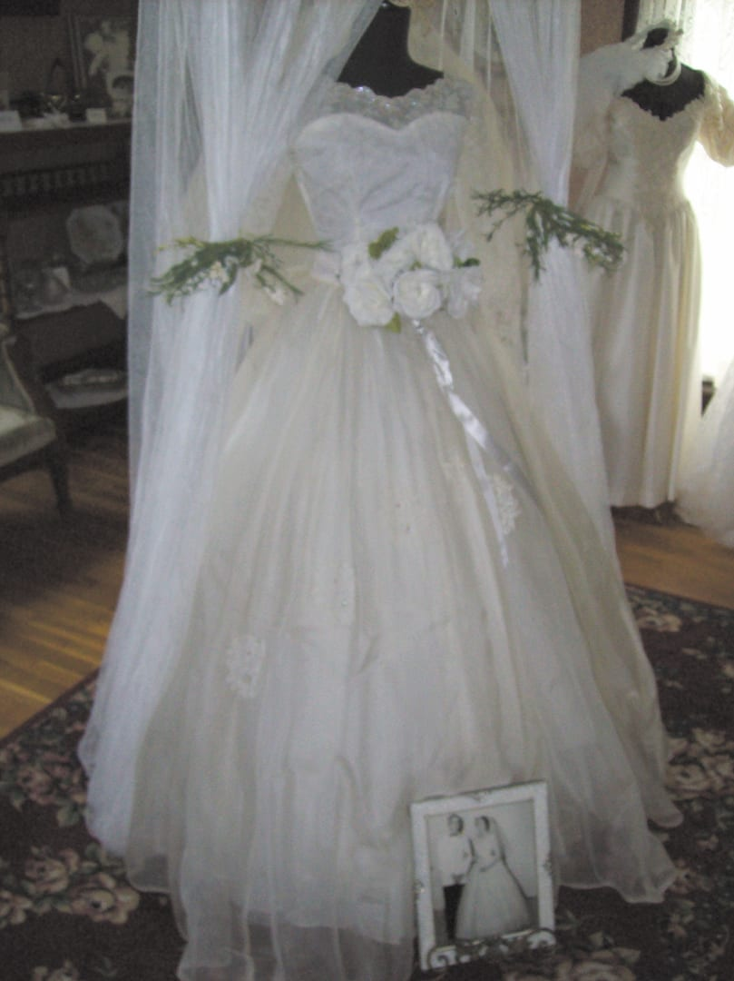 Dresses on display at historical museum's second annual bridal exhibit this month