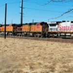 BNSF train motors through