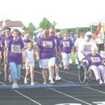 Cancer survivors take a lap around the Wheatridge Middle School track during a previous Relay for Life event. This year's event will take place this weekend. File photo