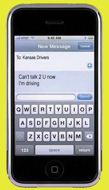 Texting while driving now banned