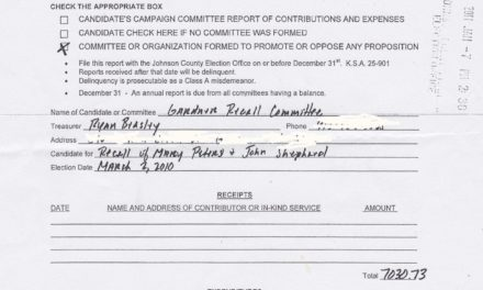 Recall committee files campaign finance report