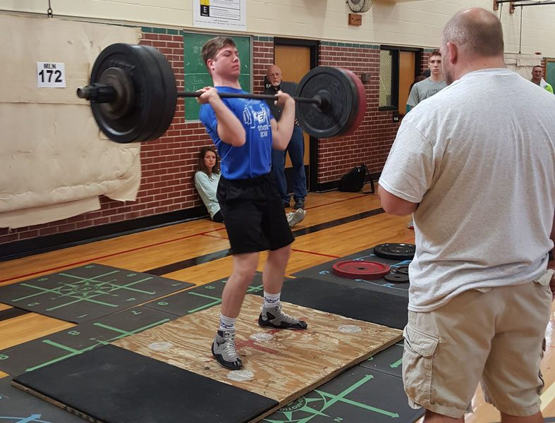 Carstens took second at power lifting meet