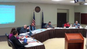 Edgerton's city council met in regular session on March 10 with Mayor Don Roberts (center) presiding. During the meeting, council unanimously approved several agenda items including water and sewer rate increase. Photo courtesy of Rick Poppitz