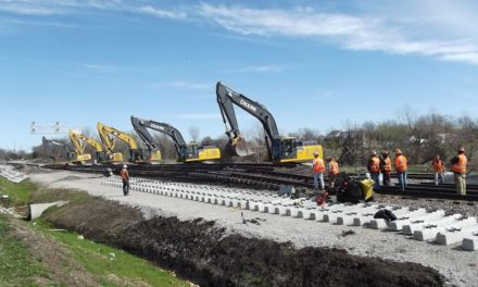 BNSF railway track project nearing completion