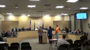 Public comments were made by several citizens during the Gardner City Council's fireworks discussion at the March 7 meeting.  The fireworks ban was lifted, although the new ordinance establishes some regulations. Photo courtesy of Rick Poppitz