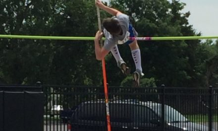 Gunderson competes in state pole vault competition