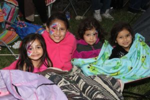 Area residents had their faces painted.  Photos courtesy of Alyann Photography