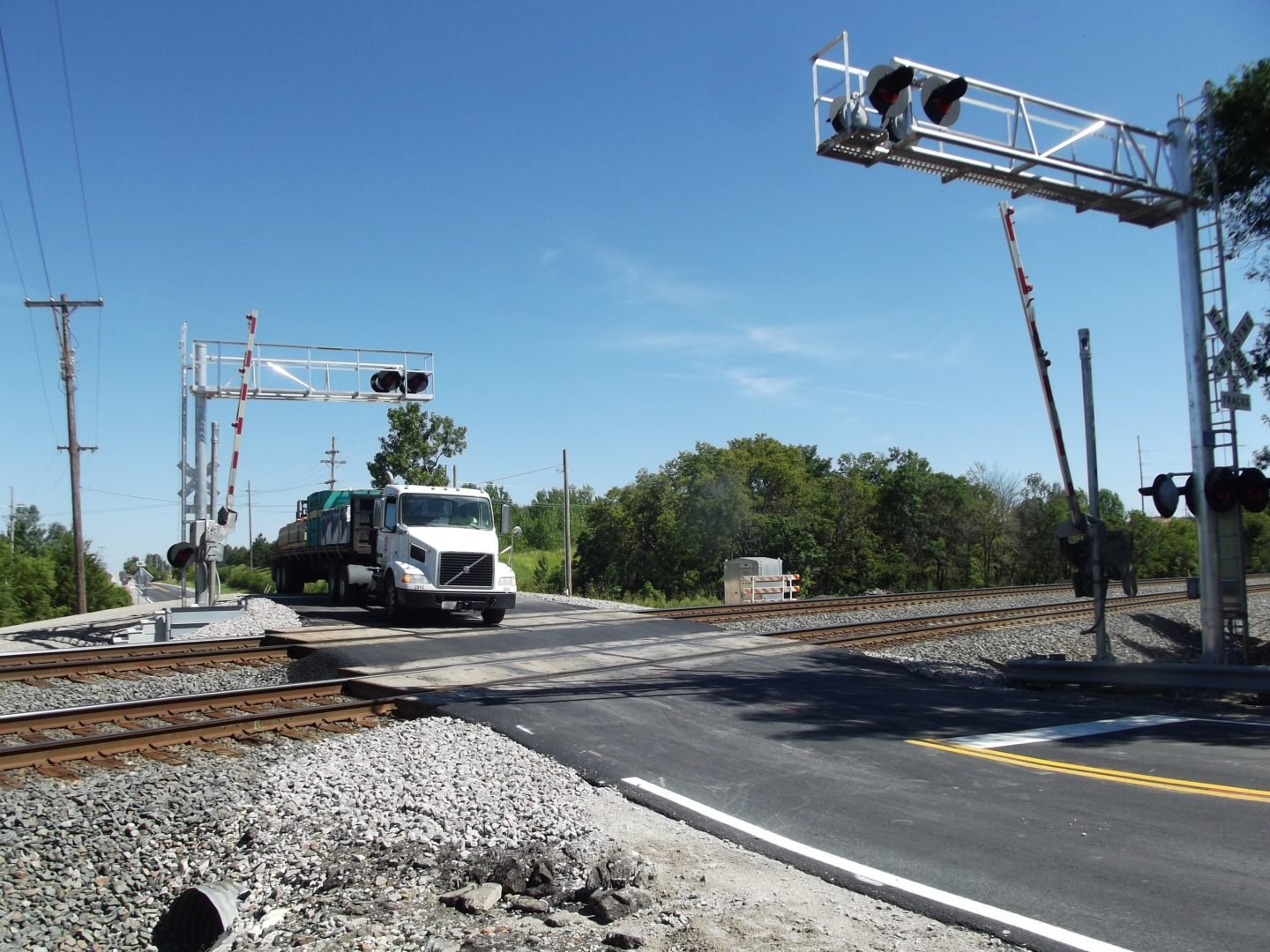 Clare Road grade crossing is re-opened