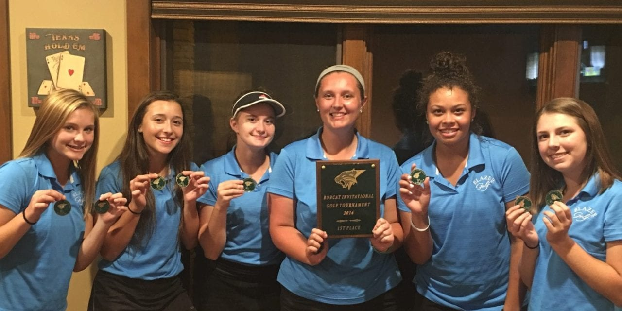 Lady Blazers win Basehor golf Invitational; win first place honors