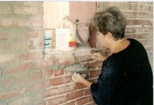 "Rita Moore, former city clerk, was one of many volunteers who worked to rehabilitate a 1906 building into the Edgerton ""Bank of Knowledge."" File photo"