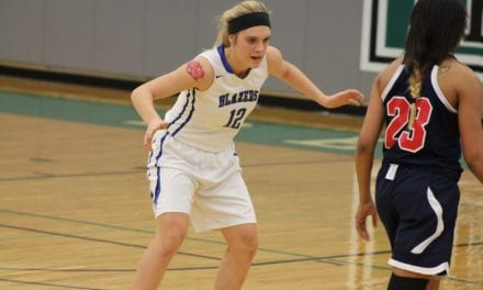 Lady Blazers roll past Excelsior Springs, 67-18