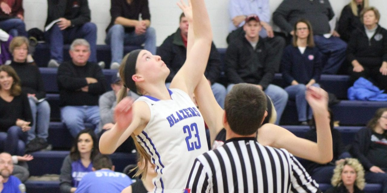 Androff Scores 13 points in Lady Blazers win