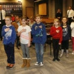 Students lead the Pledge of Allegiance