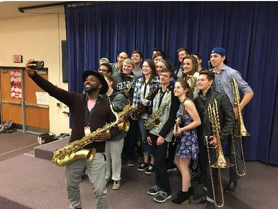 Stevie Wonder's saxophonist visits GEHS