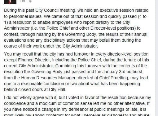 Council changes policy with no public input