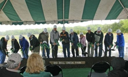 Groundbreaking at Big Bull Creek