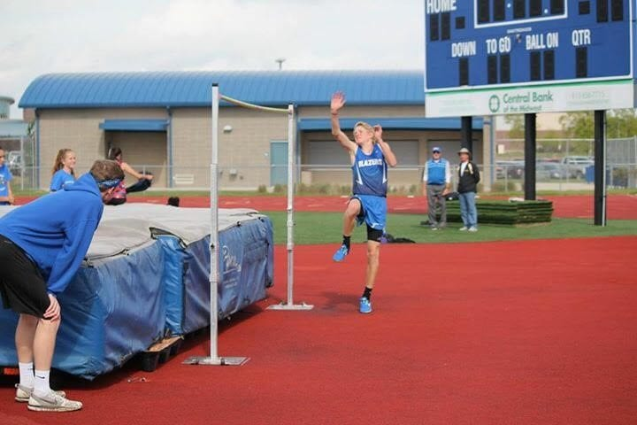 Blazer boys win home invitational track title
