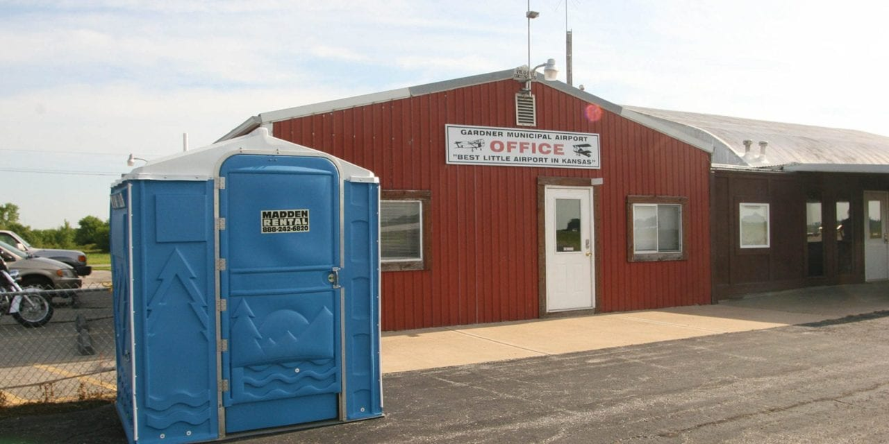 Replacement porta potty for airport almost here
