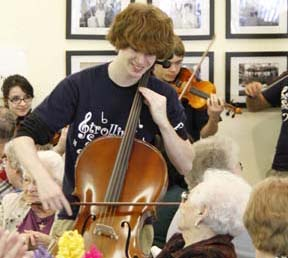 Strolling Strings event for 50 Plus set