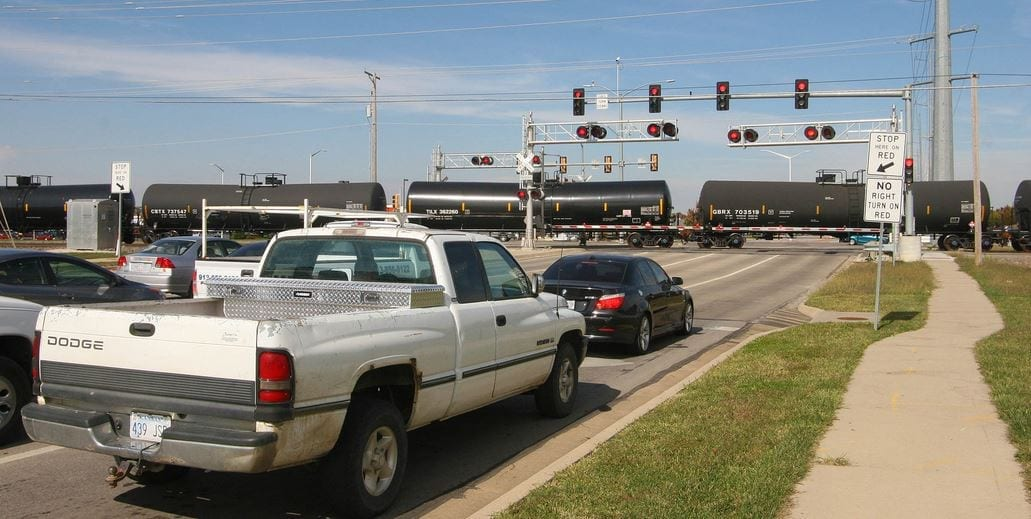 Traffic, trains clog Moonlight intersection