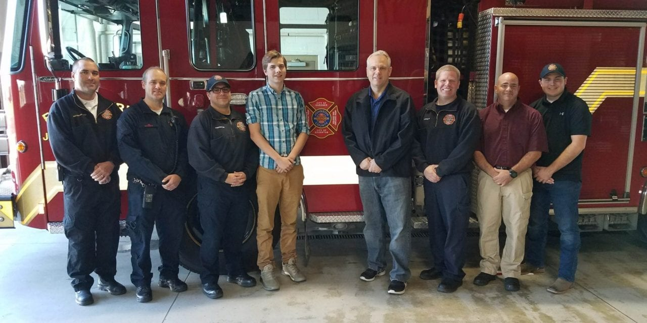 Local man survives heart stoppage due to efforts of responders