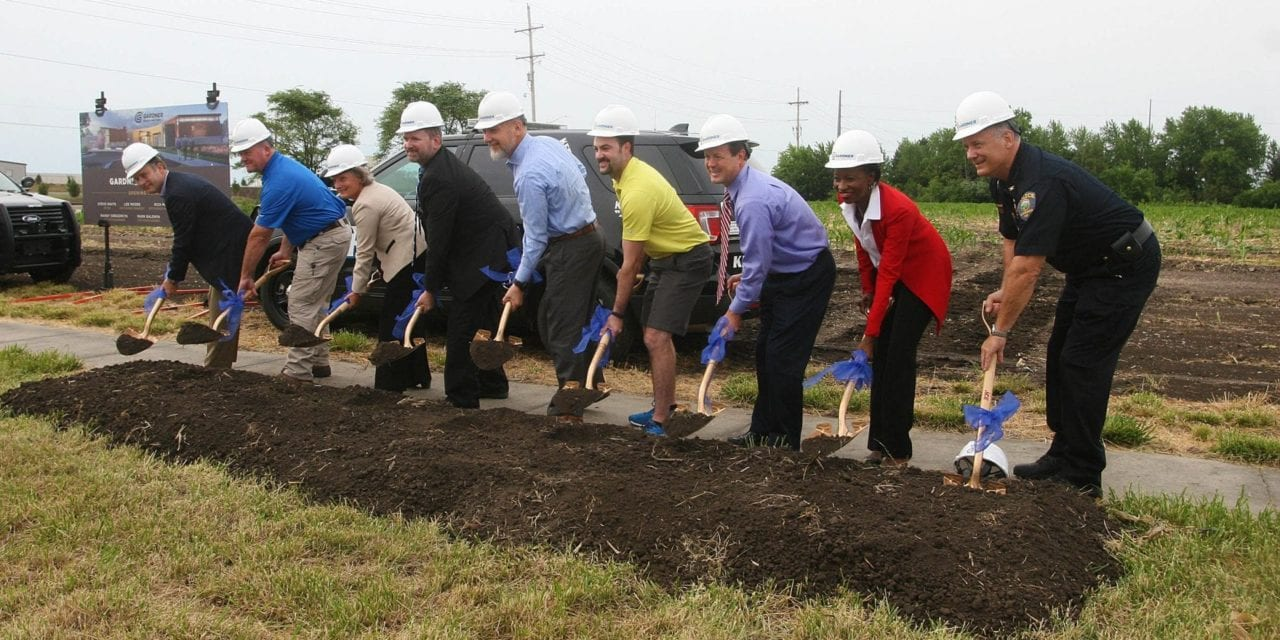 Gardner officials at the Justice Center Groundbreaking