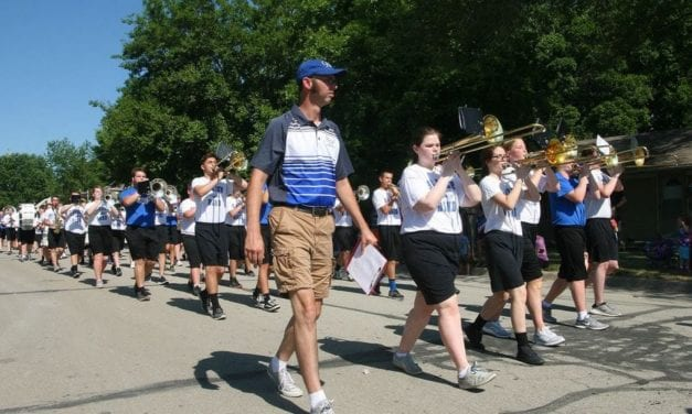 GEHS band performs in Frontier Days parade