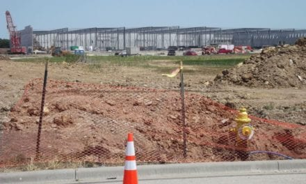 Farmland being turned into warehouse complex