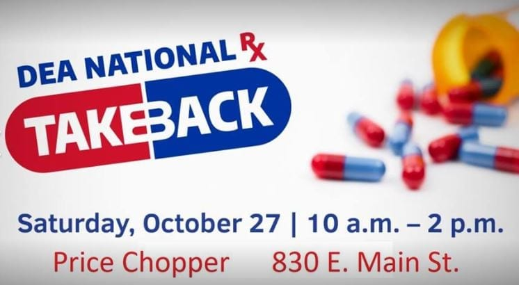 GPD drug take back scheduled for Oct. 28