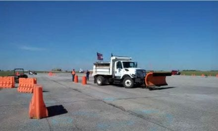 Gardner participates in snow plow rodeo