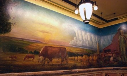 Historic John Curry murals grace the state capitol in Topeka