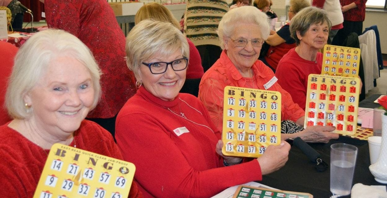 Valentine's Day dinner bingo event planned by 50+ department