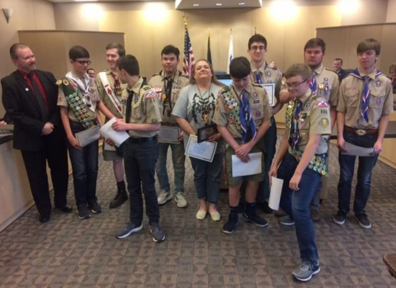 Local scouts recognized