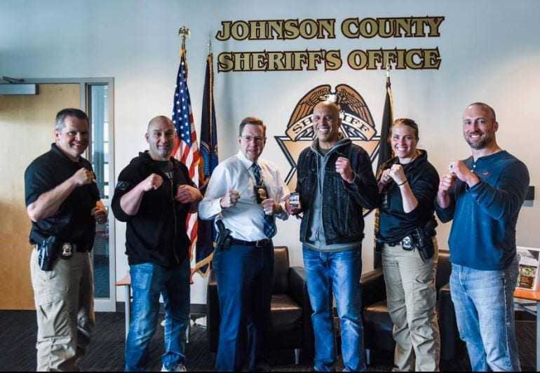 MMA legend Royce Gracie visits Johnson County Sheriff's office