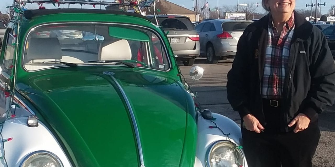 Merry Christmas VW Beetle brings smiles