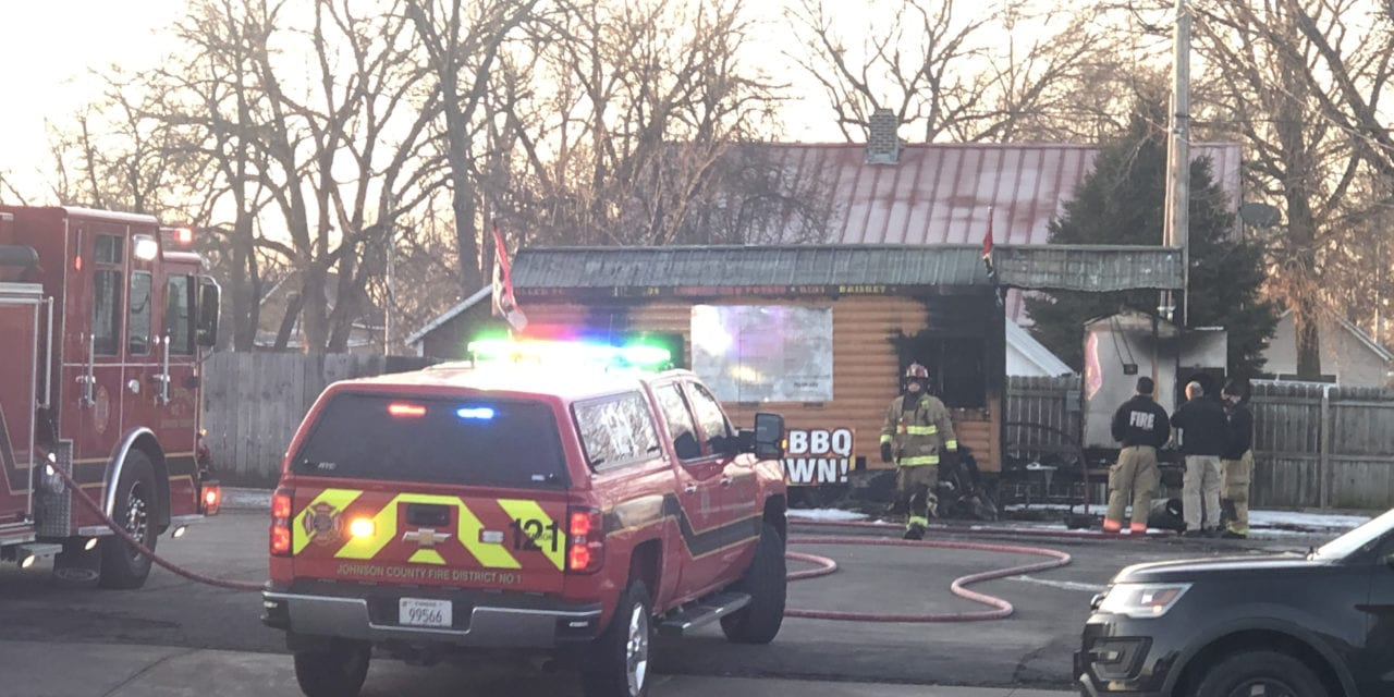Moose's BBQ catches fire